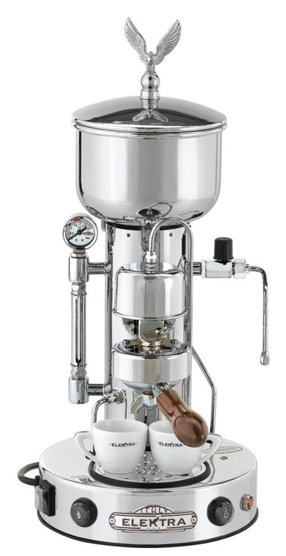 ELEKTRA MICRO CASA SEMI-AUTIMATICA. This semi-automatic espresso machine ensures top-notch performance every time you brew. Worldwide shipping available.