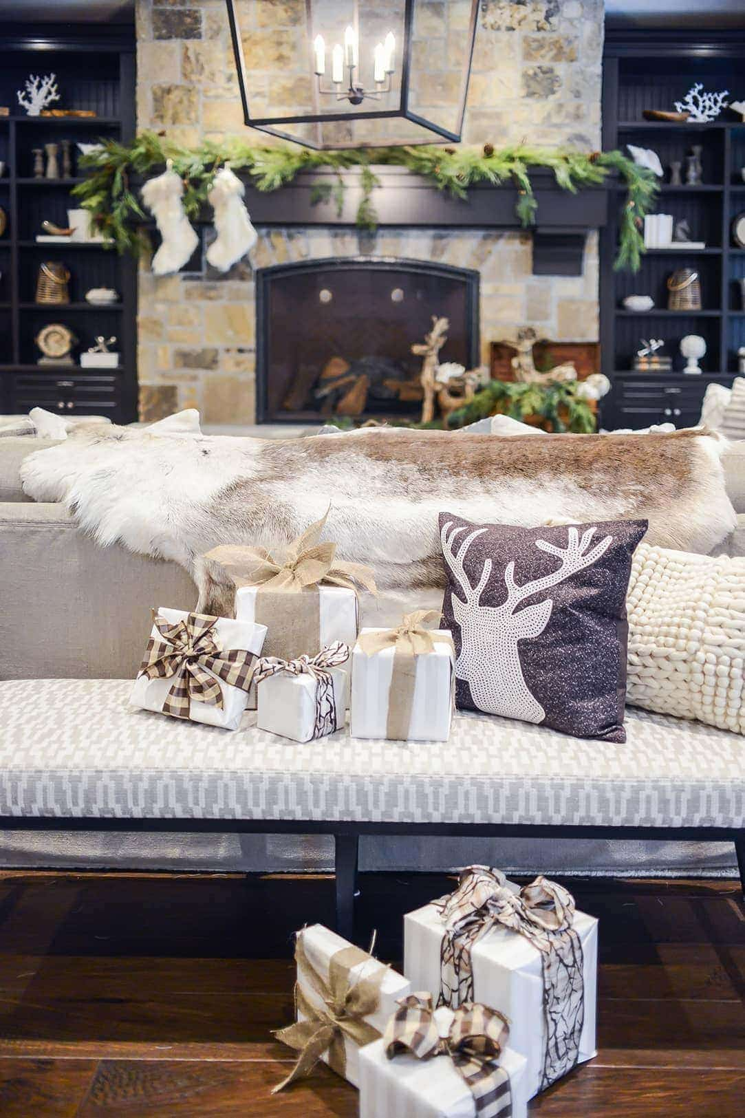 HOME FOR THE HOLIDAYS: Every detail was considered by Duclos, including beautifully wrapped gifts.