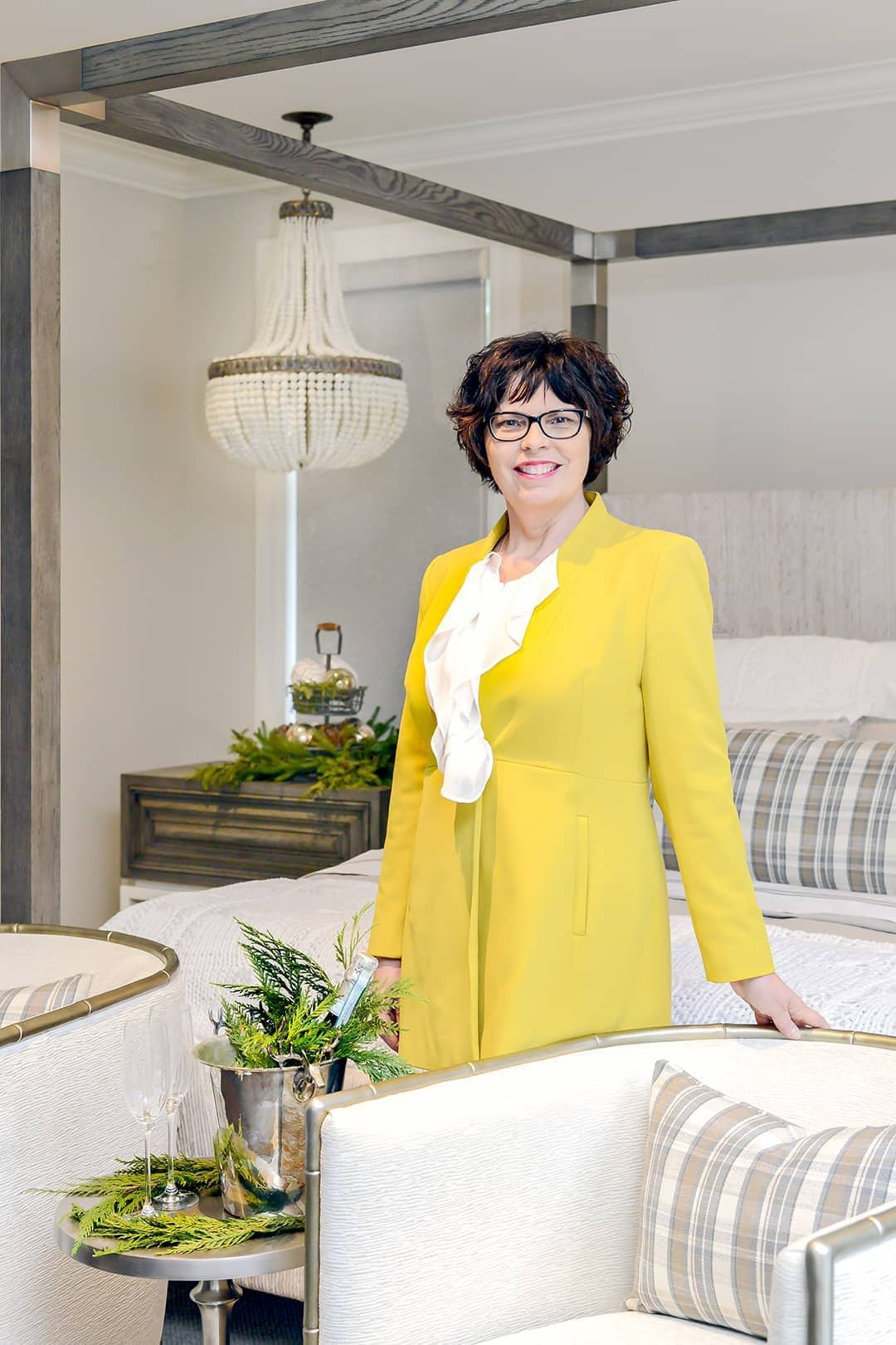 HOME FOR THE HOLIDAYS: designer Sandi Loreen Duclos couldn't be happier with the final results.